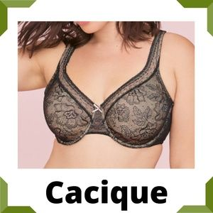Cacique Modern Lace Unlined Full Coverage Bra